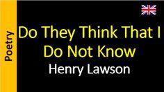 Áudio Livro - Sanderlei: Henry Lawson - Do They Think That I Do Not Know