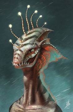 """Another Merman by Zhrayde.deviantart.com on @deviantART. I know it says """"merman"""" and that would put it under fantasy, but every time I look at it I think of science fiction, so it's going on this board."""