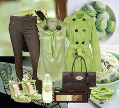 """""""Tea Green & Chocolate"""" by gangdise on Polyvore"""