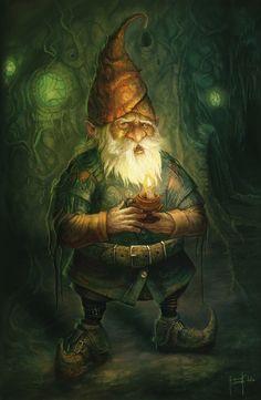 "Elves Faeries Gnomes:  ""#Gnome,"" by Artemis Kolakis (digital manipulation)."