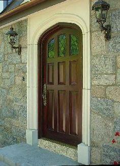 Beautiful Tudor arch door!
