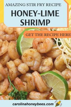 Honey Recipes, Stir Fry Recipes, Ways To Cook Shrimp, Shrimp Stir Fry, Raw Honey, Quick Easy Meals, Eating Raw, Healthy Eating, Cooking With Honey