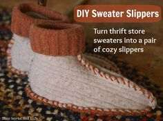 This (sorta) Old Life: DIY sweater slippers