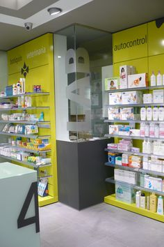 Farmacia Juana Lorenzo, A Coruña, Spain #pharmacy #farmacia  Love the colors!