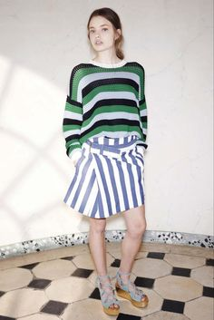 See by Chloé Spring 2015 Ready-to-Wear - Collection - Gallery - Look 1 - Style.com STRIPES