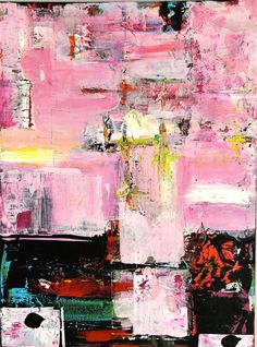 ROSA 2    Pink Original Abstract Acryllic painting on by LivsGlad, $300.00