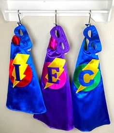 Kids Personalized Gift / Superhero Capes & Mask / Kids capes/Toddler Birthday Party Outfit/ Boys Capes
