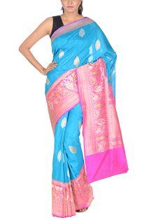 Pure Handloom Silk Tussar Kadiyal saree with Roopa Sona work border