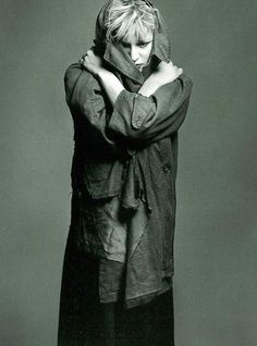 Courtney Love wearing Kurt Cobain's coat, photographed by Mark Seliger