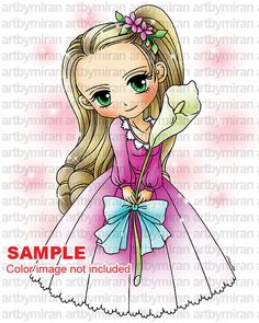 Sello digital Calla194 sello de Digi página línea por artbymiran