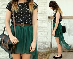 Outfits with Hi-Low-skirts. Hi-low skirts are new swag that not only keeps the finest clothes up to date, but also immensely refined when worn on the . Looks Street Style, Spring Street Style, Looks Style, Protective Hairstyles, Indie Fashion, Fashion Beauty, Hipster Fashion, Women's Fashion, Skirt Outfits