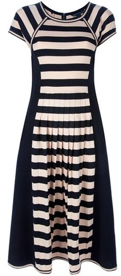 MARC JACOBS Striped Jersey Dress