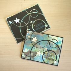 Mod Circle Distress Oxide Cards by Sarah J. Moerman - Cards and Paper Crafts at Splitcoaststampers