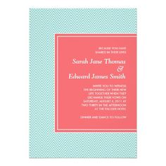 This DealsBlue and Coral Chevron Wedding Invitationyou will get best price offer lowest prices or diccount coupone