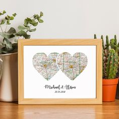 Custom Heart Map Map Heart Art Personalized Map Custom Map Art Husband Gift Gifts For The Couple Anniversary Gift Heart Map Print. Happy Anniversary Wishes, Anniversary Gifts For Couples, Paper Anniversary, Husband Anniversary, Anniversary Funny, Anniversary Ideas, Map Crafts, Heart Map, Custom Map