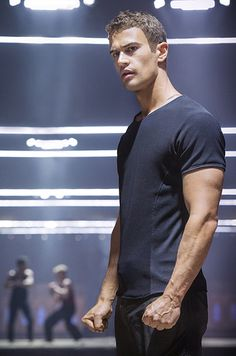 Theo James. Hi, hello. Let's watch Divergent again.
