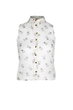 Free delivery available today - Shop the latest trends with New Look's range of women's, men's and teen fashion. White Pug, Sleeveless Blouse, Teen Fashion, Polka Dot Top, New Look, Latest Trends, Clothes, Shopping, Tops