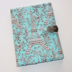 I think I could make this myself. In plaid, too. Paris Blues - Kindle, Nook, Nook Color, Nook Simple Touch, or Kobo eReader Cover