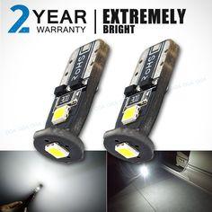 OGA 2 개 슈퍼 밝은 SMD 12 볼트 T10 W5W 168 194 자동차 LED 자동 통관 문 독서 번호판 램프 전구 2 년 보증