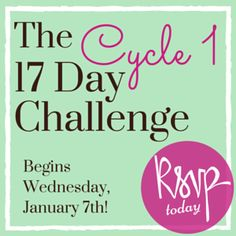 Join the C1 17 Day Challenge starting January 7th! You'll receive a smoothie kit, meal plans and daily motivating emails to keep you going! It's free! http://17ddblog.com/challenge-2015-pin/?tid=pinC1board123014