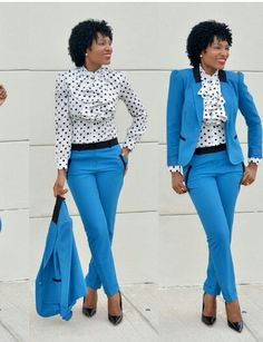 Elegant Work Ideas for the Week - corporate attire women Suit Fashion, Work Fashion, Fashion Outfits, Workwear Fashion, Fashion Blogs, Fashion Fashion, Fashion Trends, Business Professional Outfits, Business Casual Outfits