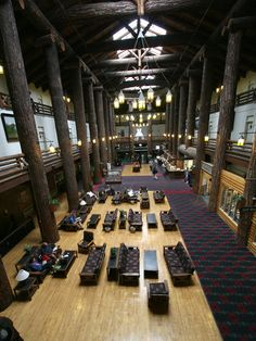 East Glacier Park Lodge - Lobby