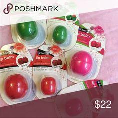 Chap Ice Revo Lip Balm Bundle  Set of 6 Chap Ice Revo Lip Balm Bundle  Set of 6  New  3 Full size 3 mini  •2 Watermelon  •2 Strawberry •2 Cherry Chapice  Makeup Lip Balm & Gloss