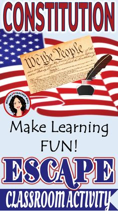 Ready for Constitution Day? The Constitution has never been this much FUN. There are 6 tasks that focus on the ideas and principles behind our Constitution. Don't use the same old boring Constitution resources. Try a fun whole class activity and build on teamwork, just like our Founding Fathers did. The students work in groups to complete tasks, learn about the Constitution, and reflect on what the Constitution means to them. This activity ends with a lively class discussion.