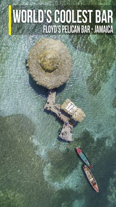 drone photo of Floyd's Pelican Bar in Jamaica