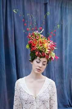 ❀ Flower Maiden Fantasy ❀ beautiful photography of women and flowers - Gloriosa headpiece