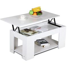 Yaheetech Lift Up Top Coffee Table with Storage  Shelf Modern Occasional Table White -- More info could be found at the image url.Note:It is affiliate link to Amazon.