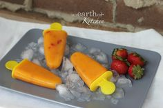 Sugar-free Mango Strawberry Popsicles and the benefits of Coconut Water
