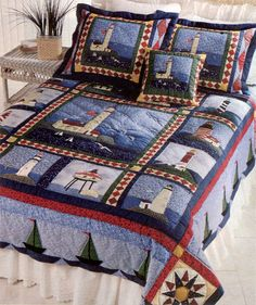 Image result for lighthouse quilt