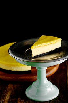Nigella Lawson Chocolate Yuzu Lime Cheesecake with Lime Curd