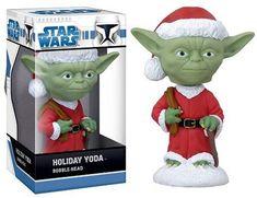 Star Wars Yoda Holiday Mini Wacky Wobbler http://popvinyl.net #funko #funkopop #popvinyl