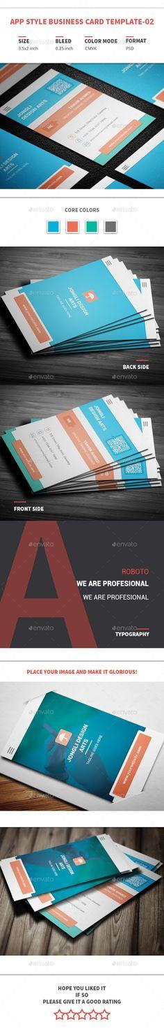 App Style Business Card Template #printdesign #visitenkarte Download: http://graphicriver.net/item/app-style-business-card-template02/12049772?ref=ksioks