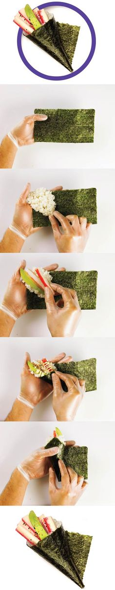 How to make a sushi roll, from scratch, at home #sushi