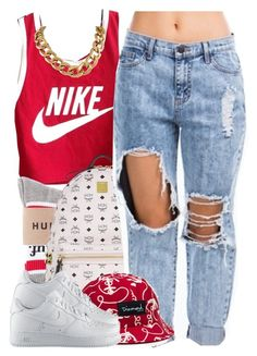 """""""july 11 2k14"""" by xo-beauty ❤ liked on Polyvore featuring NIKE and MCM"""