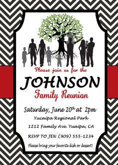 Ohio Theme Family Reunion Invitation BBQ invitation Outdoor