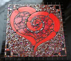 Heart Mosaic  I admit is I love spirals! I enjoy doing and seeing mosaics too!