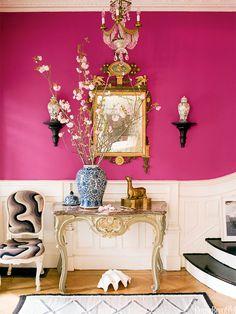 Pink + White | Entryway Decor | Stylish Foyer | Entryway Idea