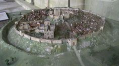 This is a model reconstruction of the Medieval castle of Old Sarum. Originally an ancient Iron Age hill fort, Old Sarum became one of the most important ...