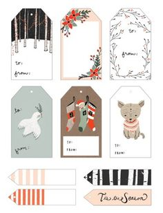 Printable Gift Tags by Kelli Murray - click through for many more!