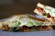 The Bacon Spinach Tomato Sandwich with avocado  www.domiciliate.net
