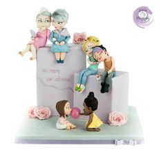IN RAIN OR SHINE - BEST FRIEND'S DAY COLLABORATION  - Cake by Silvia Mancini Cake Art