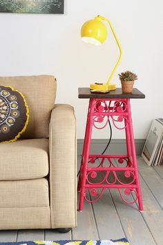 Magical Thinking Rattan Scroll Side Table/stool like