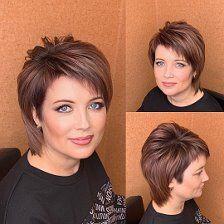 Pixie Haircut Styles, Pixie Hairstyles, Short Hair Styles Easy, Short Hair Cuts, New Haircuts, Hair Designs, Hairdresser, Amazing Women, Hair Makeup