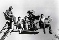 Corey Feldman, Jerry O'Connell, Wil Wheaton and River Phoenix on the set of Stand By Me