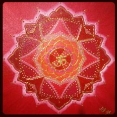 Mandala de amor con el simbolo del OM