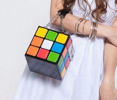 Fashion Cool Magic Lovely Rubik's Cube Woman Handbag Clutch Shoulder Bags #New #Fashion